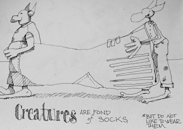 Excerpt from Creatures! Observations, by Shari Moore, The Sketchbook Project