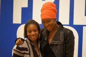 India Arie and friend, via High Museum Twitter feed