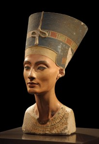 Nefertiti bust from collection of  Ägyptisches Museum Berlin
