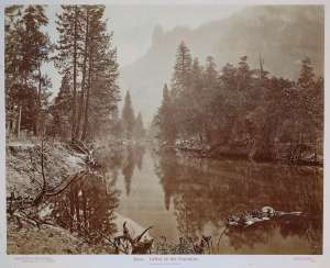 Yosemite Valley, by Eadweard Muybridge, one of the photographers to whom Ross makes reference