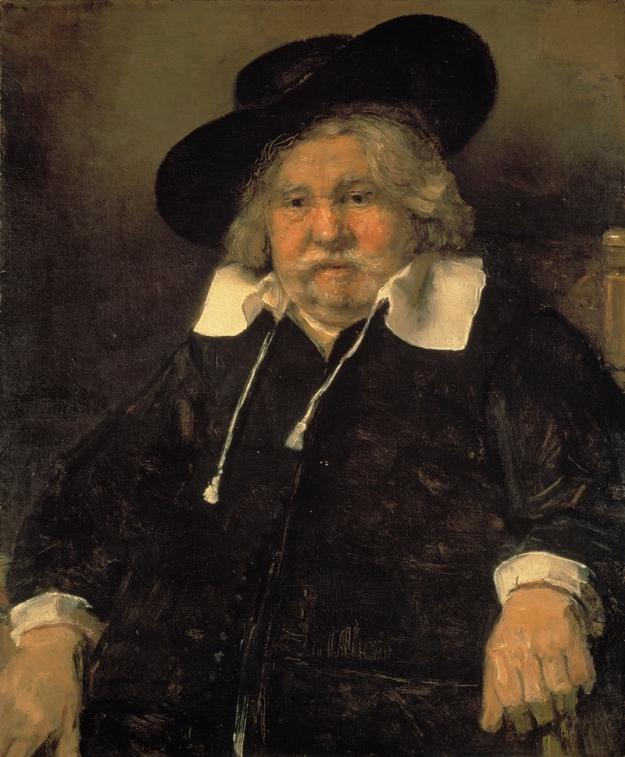 """Portrait of an Elderly Man,"" Rembrandt van Rijn, oil on canvas, 1667"
