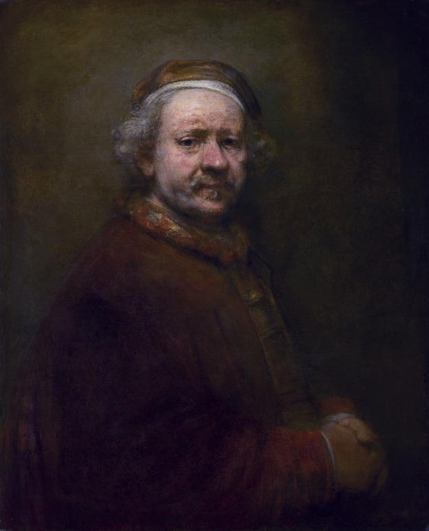 Self-portrait at 63, Rembrandt van Rijn, oil on canvas, 1669
