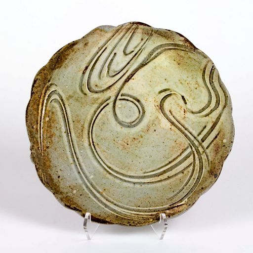 Stoneware plate by Michael Kline